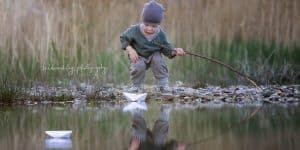 Kinderfotografie Wasser See Boot