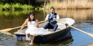 Hochzeitsfotografie Rudern Brautpaar See | Fotograf bilderschlag Erfurt