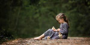 Kinderfotografie Wald Weg Küken
