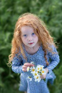 bilderschlag Kinderfotografie blaue Augen rote Haare
