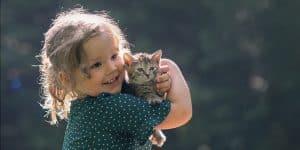 Kinderfotografie Katze Wald Wiese | Fotograf bilderschlag Erfurt