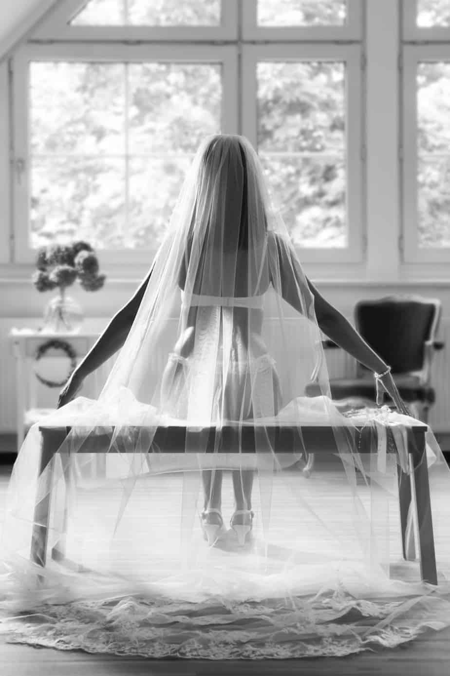 Boudoir-Shooting der Braut | Hochzeitsfotograf bilderschlag Erfurt