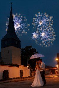 Hochzeitsshooting mit Feuerwerk | Hochzeitsfotograf bilderschlag Erfurt