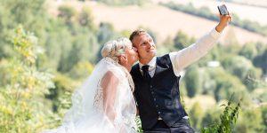 Hochzeitsfotografie auf der Creuzburg Selfie