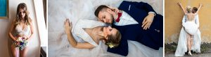 Collage Braut-Boudoir, Hochzeitspaar, erotische Hochzeitsfotografie
