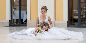 Braut mit Tochter